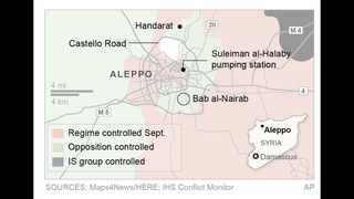 The Latest: Activists: at least 23 dead in Aleppo airstrikes