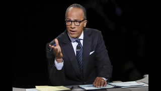 Moderator Lester Holt worked to keep control of debate