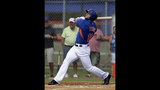 Tebow homers in 1st at-bat for Mets in instructional debut