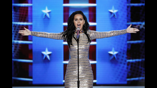Katy Perry strips down at ballot box for Funny or Die