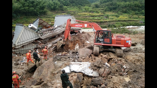 China reports 6 dead in landslides following typhoon