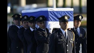 The Latest: Israeli leaders lay wreaths on Peres