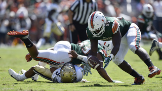 2 TDs by defense help No. 14 Miami beat Georgia Tech 35-21