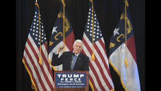 Pence again finds himself as Donald Trump