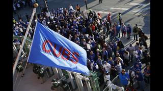 Chicago man roots on Cubs from Bartman