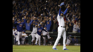 Cubs beat Dodgers 5-0 to reach 1st World Series since 1945