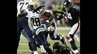 Chargers beat Falcons 33-30 in OT on Lambo