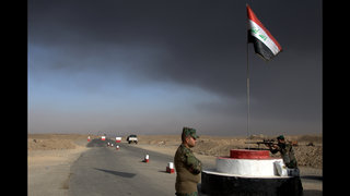 The Latest: Iraqi forces shell IS positions near Mosul