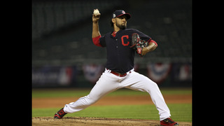 The Latest: Indians beat Cubs 6-0 in Game 1