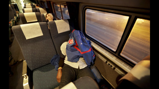 Training for a title: Cubs fans take Amtrak through night