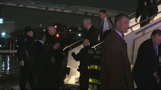 No injuries after Pence plane slides off runway in NYC