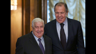 The Latest: Russia FM hosts talks with Syria, Iran