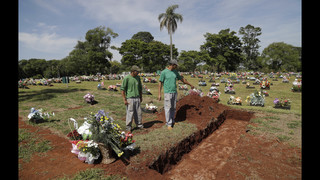 Rain and sorrow accentuate memorial for dead at Brazil club