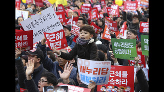 S. Koreans rally for 6th weekend calling for leader