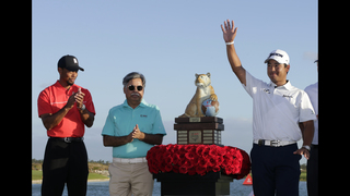 Matsuyama holds on to win in Bahamas for 3rd straight win