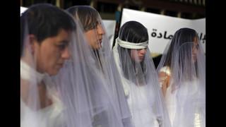 Lebanese women protest against rape law