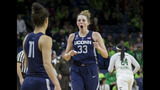 No. 1 UConn beats No. 2 Notre Dame 72-61 for 83rd win in row