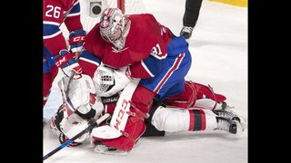 Price loses cool, wins game; Canadiens beat Devils 5-2