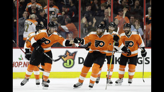 Raffl scores late, Flyers beat Oilers for 7th straight win