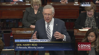 Harry Reid bids farewell to Senate after 30 years