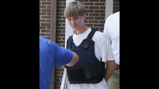 Dylann Roof hesitates just a moment before confessing