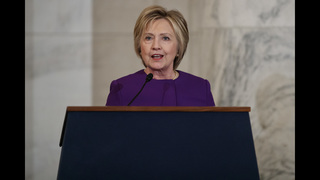 Clinton decries rise of fake news in first speech since loss