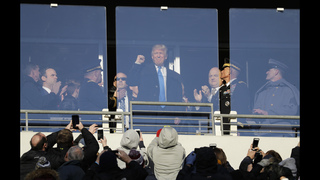Trump cheered by fans at annual Army-Navy game