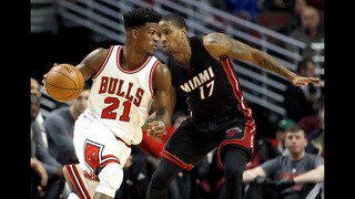Butler, Wade lead Bulls to 105-100 win over Heat