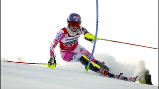 Shiffrin leads opening World Cup slalom run in Sestriere