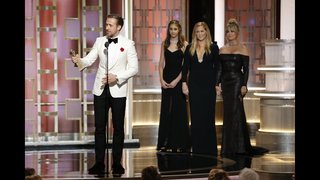 Gosling dances into stars with Golden Globe for