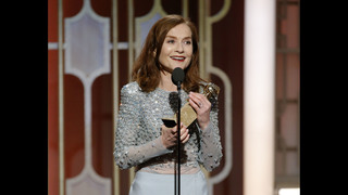 Isabelle Huppert is shocked by win for controversial