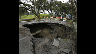 First of 3 more storms hits California as drought retreats
