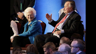 41st President Bush stable, wife
