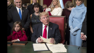 The Latest: Trump tells agencies to ease health care burden