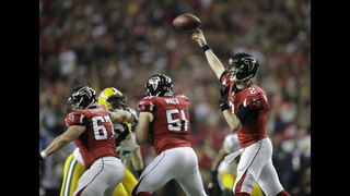 The Latest: Jones gives Falcons 31-0 lead over Packers