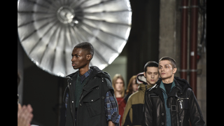 Male, female styles mix with stars to cap Paris menswear