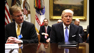 The Latest: Trump meets with labor leaders at White House