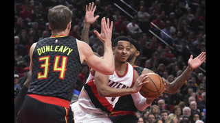 Hawks prevail 109-104 over Trail Blazers in overtime