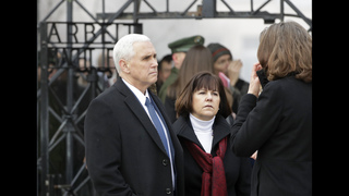 US vice president visits former Nazi concentration camp