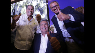 Ruling party candidate on top in Ecuador