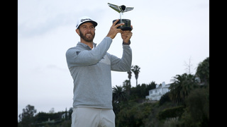 Dustin Johnson wins at Riviera, goes to No. 1 in the world