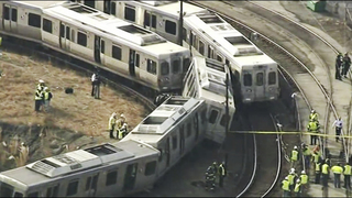 Out-of-service commuter train accident near Philly hurts 4