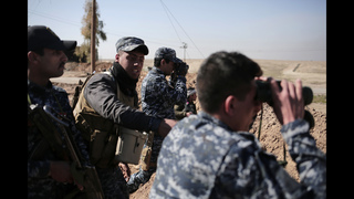 Iraqi Shiite militias push to take villages west of Mosul