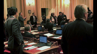 California senator removed after criticizing late lawmaker
