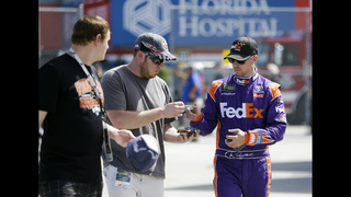 The Latest: Earnhardt leads at halfway point of Daytona 500
