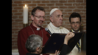 Francis becomes 1st pope to visit an Anglican church in Rome