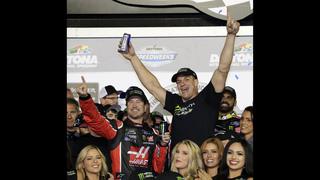 Party time! Outlaw, Smoke, Gronk turn Daytona 500 into bash