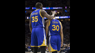 Despite cold Curry, Durant and Warriors beat 76ers 119-108