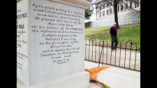 Plan to dig up President Polk