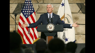 The Latest: Pence says fight against